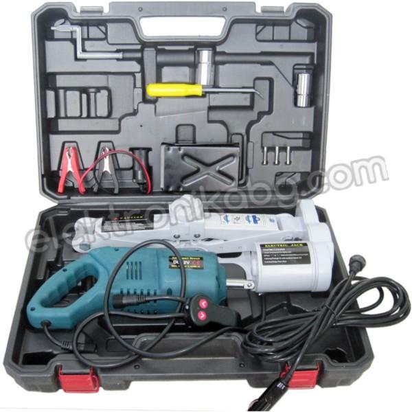 Комплект електрически ключ за автомобил с ел. крик JW-01C+ до 2000 кг.