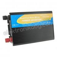 Инвертор преобразувател от 24V на 220V 2000W
