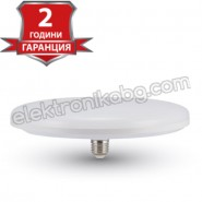 LED Крушка 36W E27 UFO F250 3240LM бяла светлина