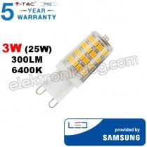 LED Крушка SAMSUNG чип 3W 300LM G9 6400K