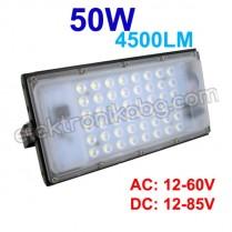 Водоустойчив LED прожектор 50W DC 12V-85V 4500LM 6000K