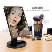 Тоалетно огледало със LED светлини на стойка