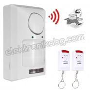Безжична мини алармена система  с 2 дистанционни управления