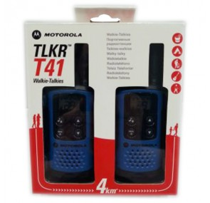 Радиостанция Уоки Токи MOTOROLA TLKR T41 до 4 км Син цвят