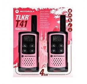 Радиостанция Уоки Токи MOTOROLA TLKR T41 до 4 км Розов цвят