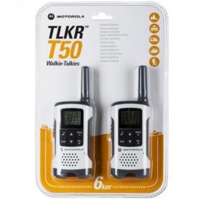 Радиостанция Уоки Токи Motorola TLKR T50 до 6 км Бял цвят