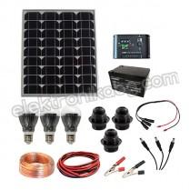 100W Фотоволтаична система за осветление