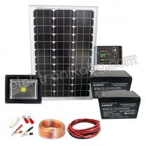 Мобилна фотоволтаична система за осветление с LED ПРОЖЕКТОР 20W / 12V