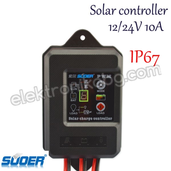 PWM 10A Водоустойчив соларен контролер 12/24V - регулатор