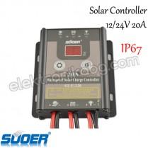 PWM 20A Водоустойчив соларен контролер 12/24V - регулатор