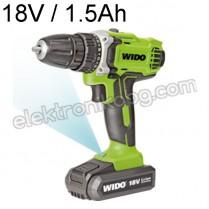18V Акумулаторен винтоверт 1.5Аh Wido WD040230180