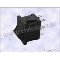 Прекъсвач on-off-on 6A 250V AC,  10A 125V AC DPDT 6P
