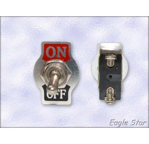 Цк ключе on-off 10A 125V AC,  6A 250V AC   SPST 2P