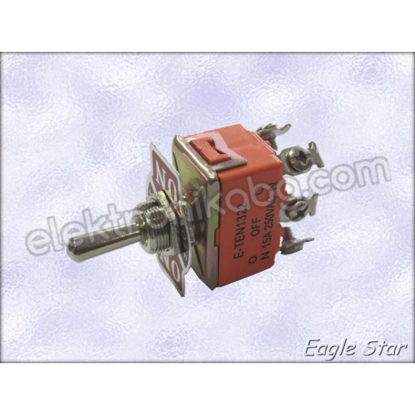 Цк ключе on-off-on 20A 125V AC,  10A 250V AC   DPDT 6P
