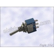 Цк ключе on-off-on 6A 125V AC,  3A 250V AC   SPDT 3P