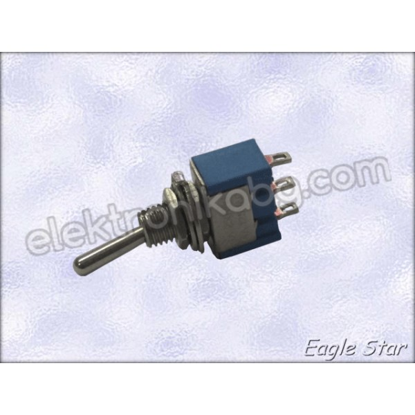 Цк ключе on-off-on 6A 125V AC,  3A 250V AC   SPDT 3P