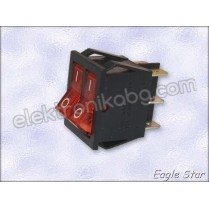 Двоен ключ on-off 16A 250v,  20A 125V DPDT 6P
